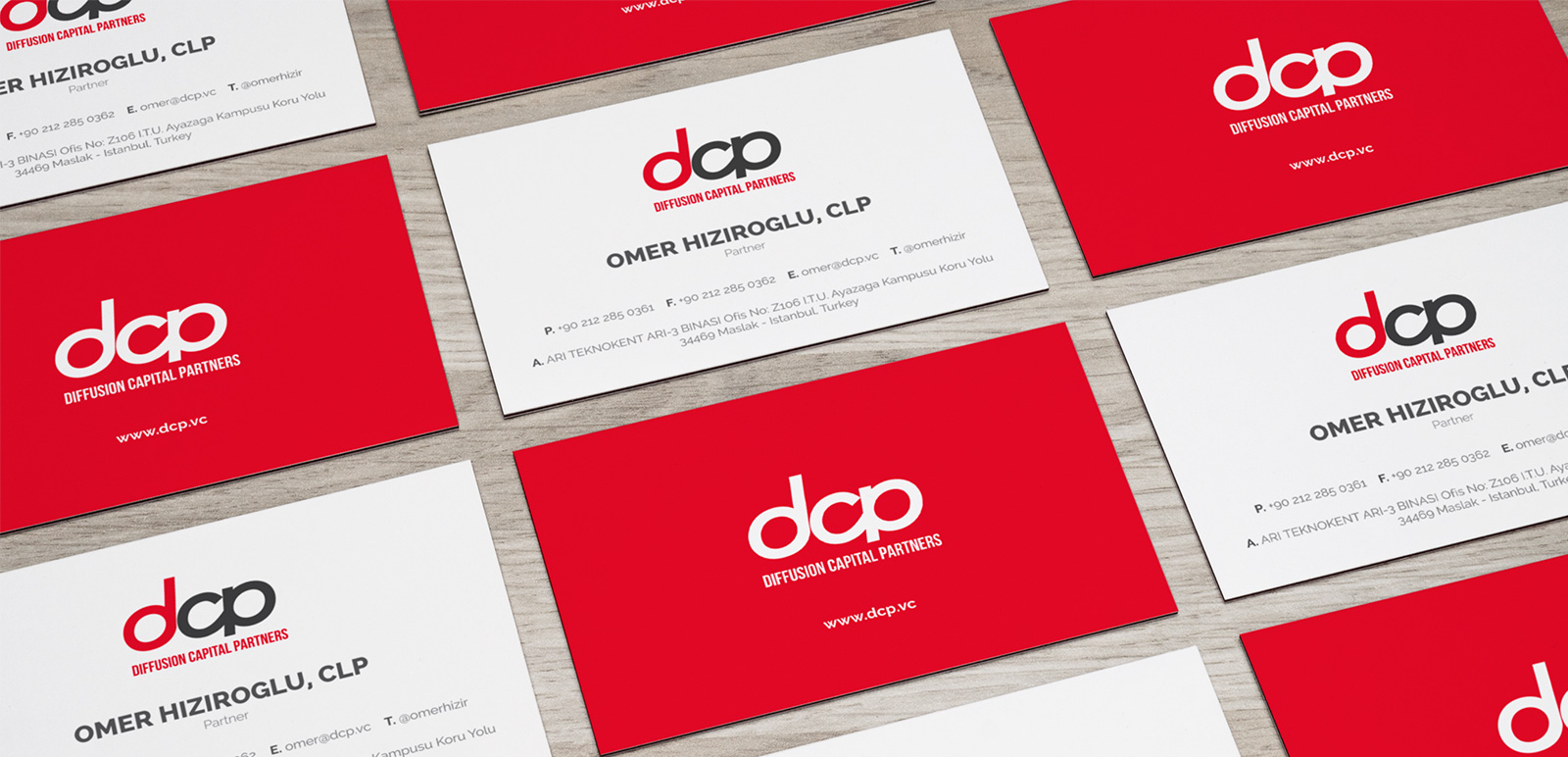 DCP Diffusion Capital Partners Logo, Business Card 2